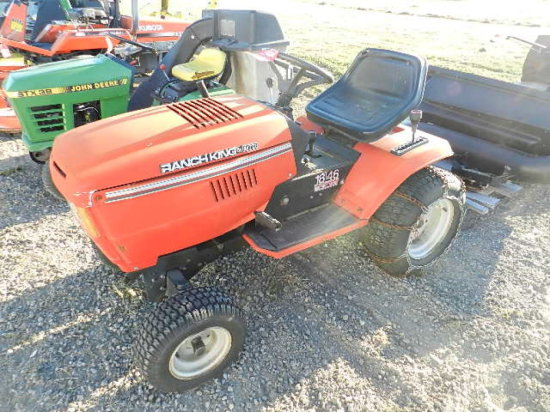 RANCH KING BY MTD 18/46 RIDING LAWN MOWER, 18 HP GAS ENGINE