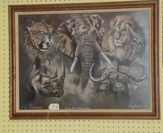 Framed Art African Game A/P SLL Craig Barber