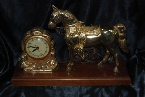 "Western Horse Clock ""United Self Starter"""