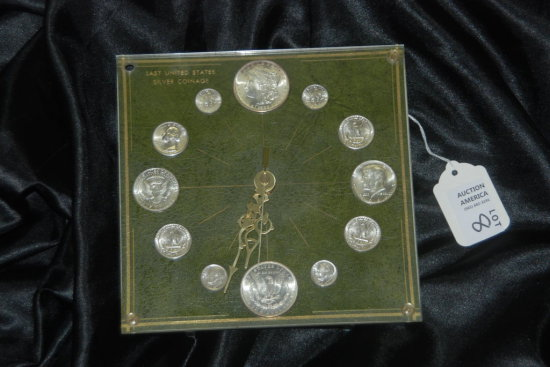 Last U.S. Silver Coinage Clock