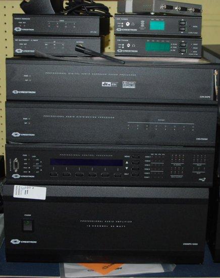 Crestron: CNAMPX-16X6, CNAMPX-7X200, Pro 2 Processor, CNXPAD8A, Video Sensor, RF Gateway XM Tuner, F