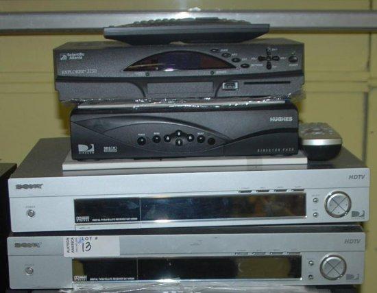 4 Pcs. (2) Sony SAT HD#00, Explorer 3250, Hughes Director Pack