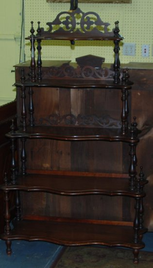 "Victorian Fret Work Back Spindle  ""What Not"" Shelf"