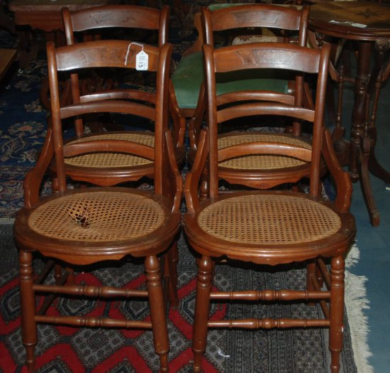(4) Cane Seat Side Chairs