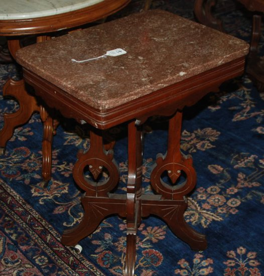 Brown Marble Top Rectangle Table