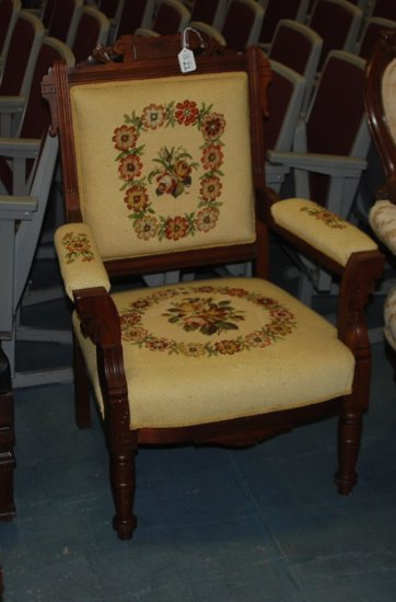 Needlepoint East Lake Arm Chair