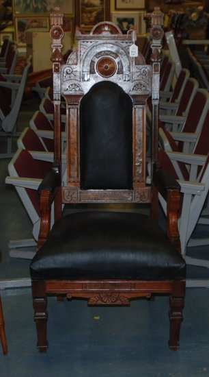 Tall Back Victorian Arm Chair
