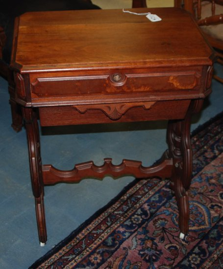 Walnut Victorian Sewing Table