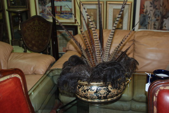 Centerpiece Bowl w/ Feathers