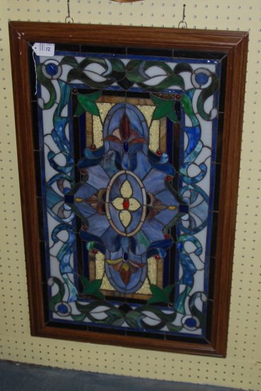 Framed Leaded Glass Window