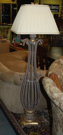 Floor Lamp Tan Iron