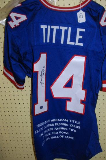 Signed Tittle Jersey W/ COA