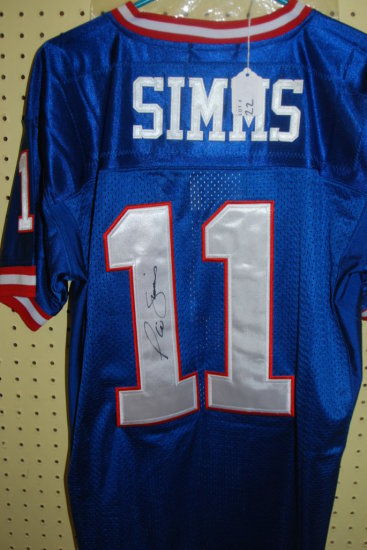 Signed Simms Jersey W/ COA