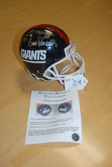 Signed Mini Giants Helmet W/ COA