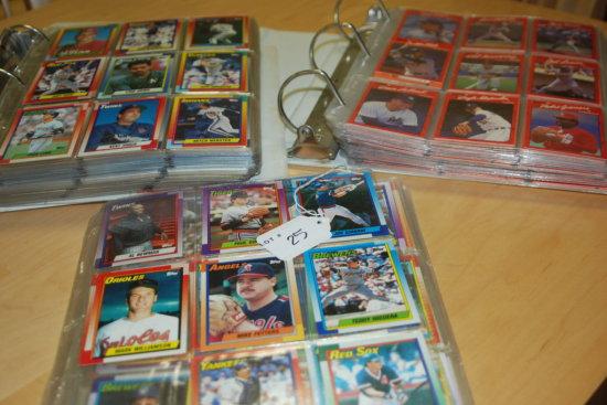 3 Books of Baseball Cards