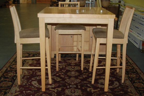 Dining set- Table w/ 4 Chairs, Blonde Finish