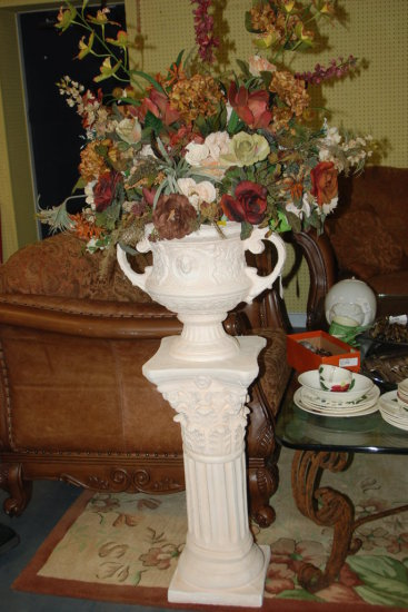 Floral on Pedestal (damaged)
