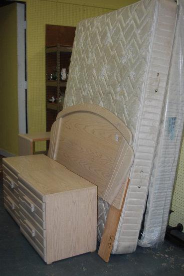 Queen Bed, Headboard, 2 Night Stands