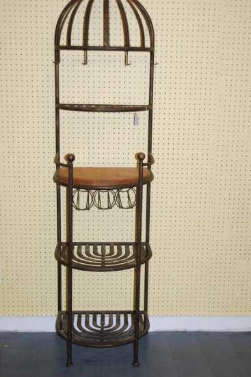 Bakers wine rack, metal