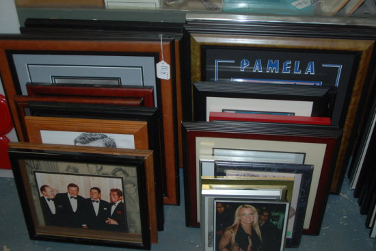 Framed Art Lot Celebrities 27 Pcs.
