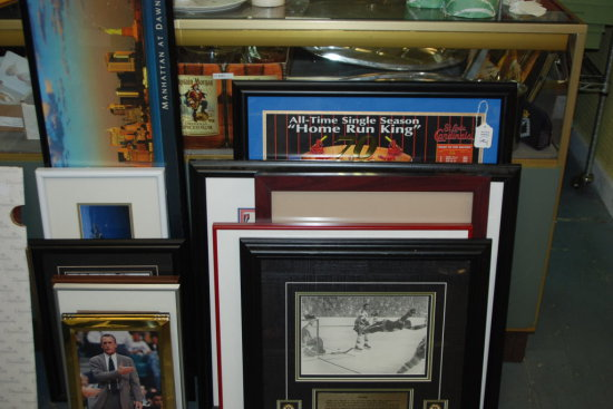 Framed Art Lot Sports 13 Pcs.
