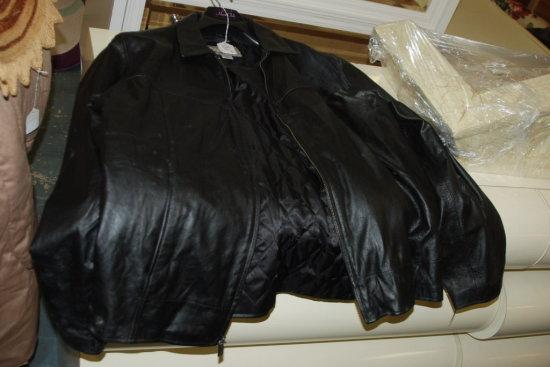 Men's Leather Jacket Black