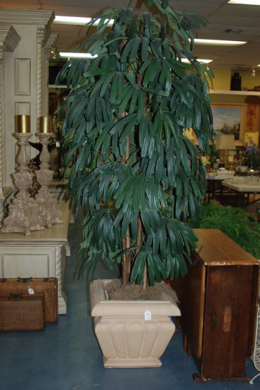 Faux Tree in Beige Planter