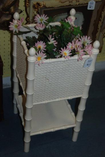 Planter Box Rattan Style White