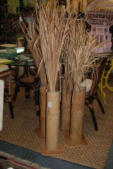 4 Pc. Bamboo w/ Straw