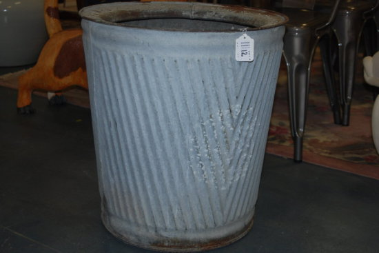 Galvanized Non splash Ash Can