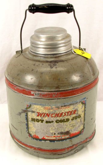 1 Gal. Hot Cold Jug; Winchester; Gray; Red Bands; Paper Label
