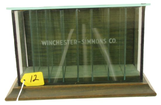 Store Display; Safety Razor Blades Cabinet; Winchester; Approx. 10inch X 7-1/2inch X 3-1/2inch; 3 S