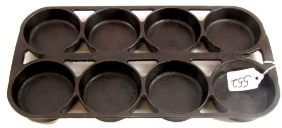 Muffin Pan; #8; Erie (all Mrkd Underside); Pm 946; Open Frame