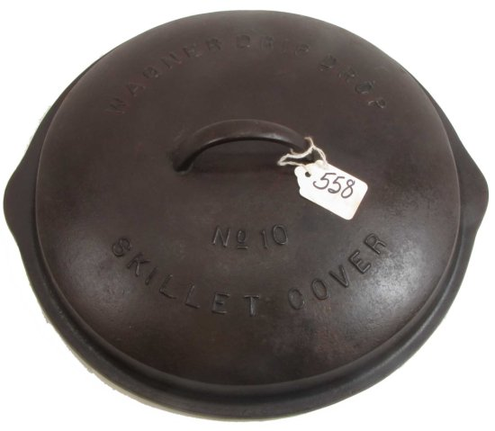 Lid: Wagner Drip Drop Skillet Cover; #10; Raised Letters