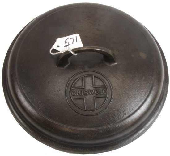 Skillet Cover; Griswold; #8; Block; Epu; Pn 1288; High Dome; With Logo