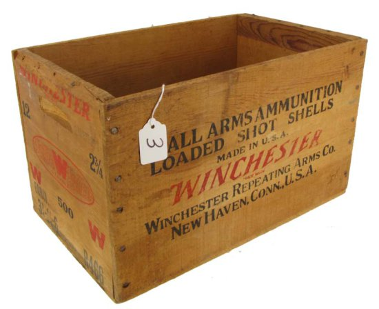 Wooden Ammo Box; Winchester; Super Speed W Staynless; 12 Ga. 3 3/4in; R466; 9in X 9in X 15in