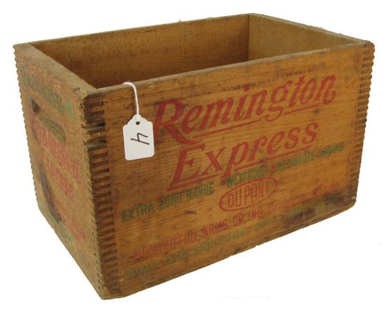 Wooden Ammo Box; Remington Express; 12 Ga. 2 3/4in-4rx12; 9in X 9 1/2in X 14 1/2in; Joined Corners
