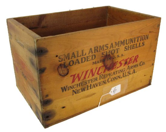 Wooden Ammo Box; Winchester; Super Speed W Staynless; 10 Ga; -2 7/8in-4 3/4in- 5; 9 1/2in X 9 3/4in