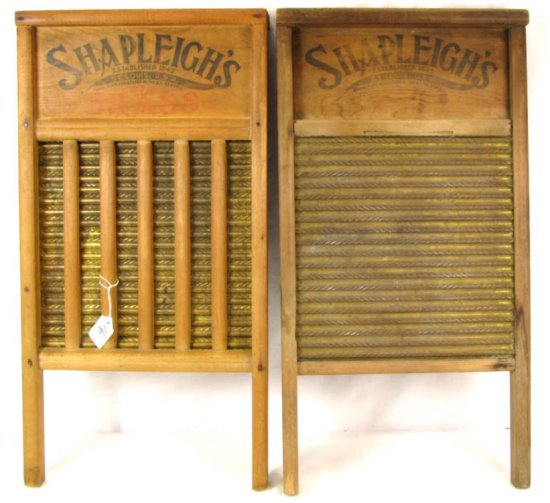 2 Shapleigh's Washboards; Brass Faces