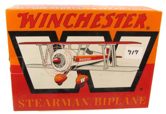 Winchester Stearman Biplane; Die Cast; Ltd Ed. Hidden Bank Features; Liberty Spec Cast; #37504
