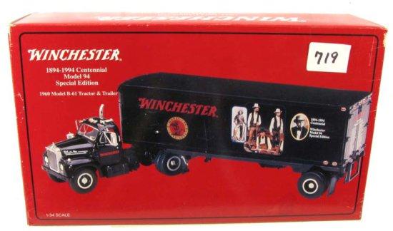 Winchester Die Cast 1894-1994 Centennial Model 94 Anniversary Collector Replicas; 1960 Model B-61 Tr