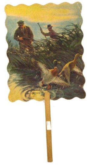Hand Fan; Schenck Hdwe Store; The Winchester Store; Hunters In Duck Marsh W/birds