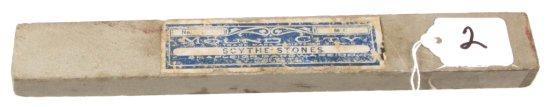 Scythe Stone, Orig. Paper Label, Shapleigh Hdwe. Co.