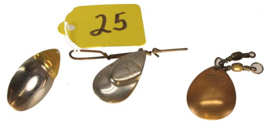 3 Fishing Spoons, 9814, Copper, 9715, 9671, Winchester