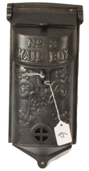 Mail Box; No. 3 Mail Box; Fancy; Embossed; Griswold Mfg. Co. Epu Pn 353/361