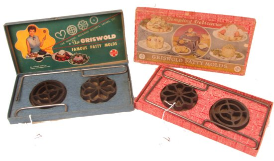 Patty Mold Sets (2 Boxes); Griswold; Both No. 1; Shallow