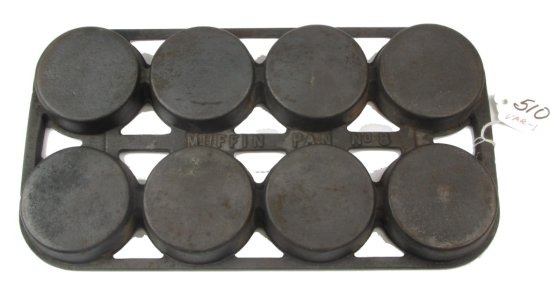No. 8 Muffin Pan (griswold) Raised Muffin Pan No. 8 On Back; Var. 1