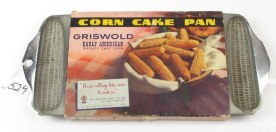 No. 273 Griswold Crispy Corn Stick Pan; Pn 930a; Chrome Finish; Nos In Orig. Sleeve