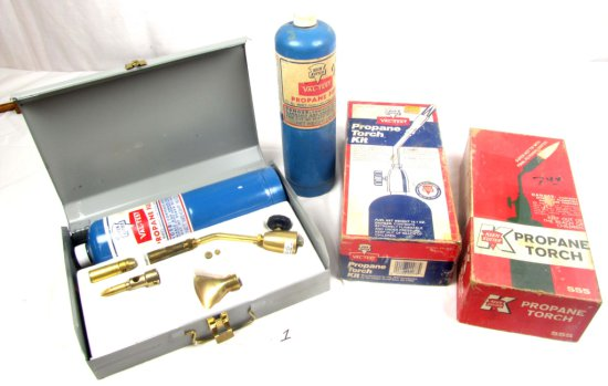 Lot: Propane Torch Kits; 1-keen Kutter Valtest (in Metal Box) & 1 Keen Kutter Big K Valtest; Plus O