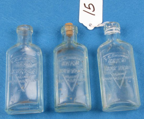 """4"""" Glass Oil Bottles; Aqua; Ecs Kk Logo"""